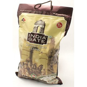 INDIA GATE BASMATI RICE JUTE BAG 10LB
