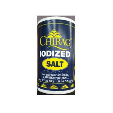 CHIRAG IODIZED SALT 26 OZ